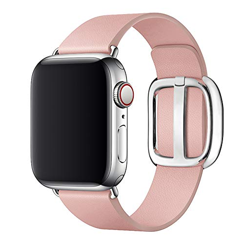 SIRUIBO Leather Band for Apple Watch 38mm 40mm Women, Modern Buckle Replacement iWatch Strap Wristband for Apple Watch Series 4 3 2 1 ()
