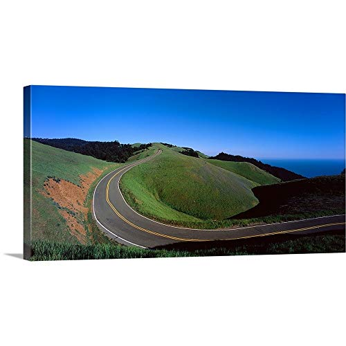 Marin Bolinas Ridge - GREATBIGCANVAS Gallery-Wrapped Canvas Entitled High Angle View of a Road Passing Through a Landscape, Bolinas Ridge, Marin County, California, by 60