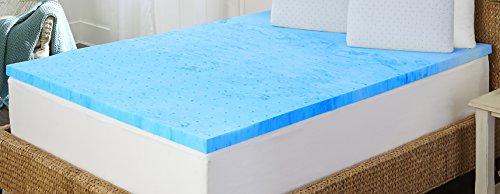 "Sleep by Pure Rest 2"" Marbleized Gel Memory Foam Topper - Ck,Blue,Cal King - Arctic Sleep by Pure Rest MFT-405-8CK_M"