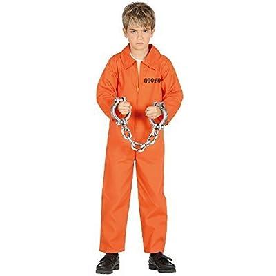 garçon fille prisonnier Inmate ORANGE mort rangs Halloween Horreur Effrayant TV Livre Film Costume Déguisement 3-12 An - 5-6 years