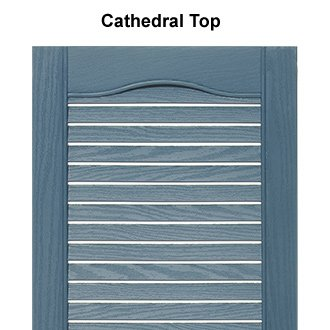 Mid-America 00 01 1467004 14.5'' x 67'' Wedgewood Blue Louvered Vinyl Exterior Shutters (Pair)