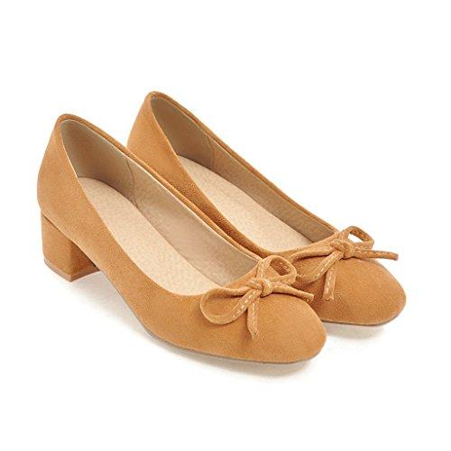 primavera con la ligeras femeninos singles En zapatos y pesadas estudiantes yellow TEw5HqdH