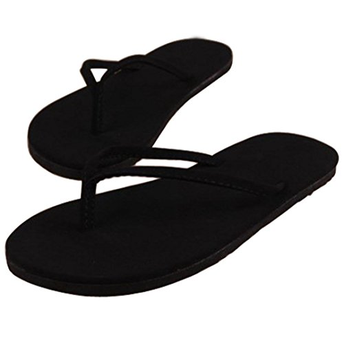Bolayu Women Summer Shoes Sandals Slipper Indoor & Outdoor Flip Flops (8, Black) 8' Knee High Platform Boot