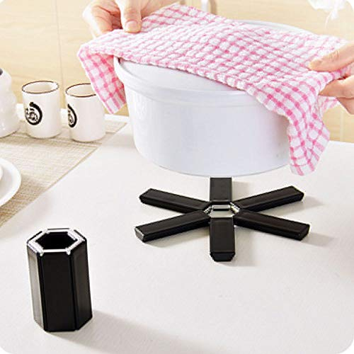 Folded Pot Mat Creative Coasters Slip Hexagonal Placemat Insulation Pad