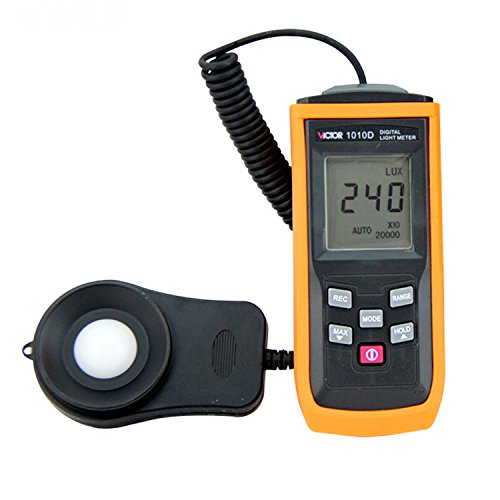 VICTOR VC1010D Digital Lux Meter Max 200000LUX Indoor Outdoor Light Meter