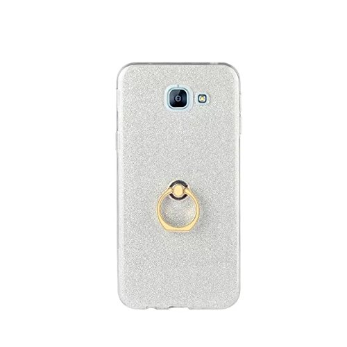 Sparkle colore Bianco Galaxy Supporto Con A810 Le Flessibile Glitter Morbido Silicone Bling Style Anti Posteriore Dita Custodia Luxury 2016 Cover Scratch Per Samsung Antiurto Bianco Tpu a8 RwxSFEEq7