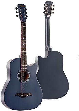 ミニアコースティックギター バスウッドギター38インチの大人学生フォークギター練習ギターのための学生の子供大人 初心者 入門 (Color : A, Size : 38 inch)