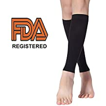OROMOR Calf Compression Sleeve - Compression Sleeves for Calves Performance Support Shin Splints&Pain Relief,Men Women Compression Leg Sleeves, FDA Certified Footless Compression Socks(1Pair)