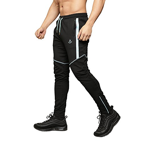 MAIKANONG Men's Jogger Pants with Zipper Pockets and Ankles Attractive Details by MAIKANONG (Image #6)