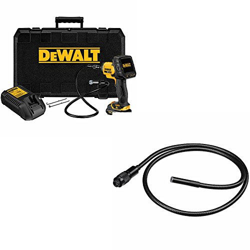 Dewalt DCT410S1 12V Max 17 mm Inspection Camera with Wireless Screen Kit, 5.125 inch x 14.375 inch x 15.688 inch