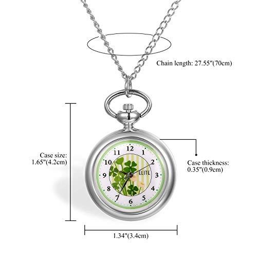 ZJZ Ny fickur, klöverfickur transparent glas kvartsur hänge klocka