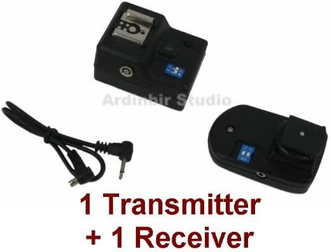 500D 10D 7D Xti Wireless Radio Remote Flash Trigger 1 Transmitter Xsi 1000D XT 20D 1Ds 1 Receiver for Canon EOS 450D 40D XS 1D Mark II 550D III 400D T2i T1i 50D 350D IV 5D Mark II
