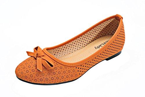 Mila Lady Laser Cut Casual Comfotable Y Chic Hidden High Mujeres Zapatos Planos (elisa2) Camel
