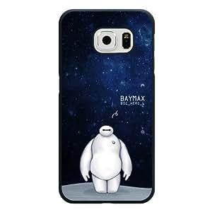 Galaxy S6 Edge Case, Customized Black Hard Plastic Galaxy S6 Edge Case, Big Hero 6 Baymax Galaxy S6 Edge Case(Not Fit Galaxy S6)