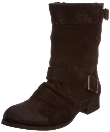 Maruti Women's Porto Ankle Boot Leather Suede Brown Suede