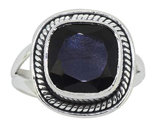 YoTreasure Black Onyx Solid 925 Sterling Silver Ring