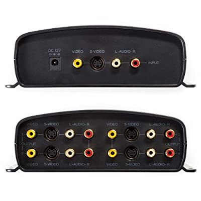 RadioShack 1500320 1-Input/4-Output A/V Component Video Sound S-Video Distribution Amplifier Splitter by RadioShack