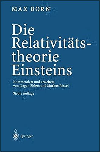 Book Die Relativitätstheorie Einsteins
