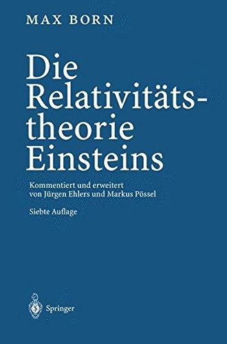 Die Relativitatstheorie Einsteins  [Born, Max] (Tapa Blanda)