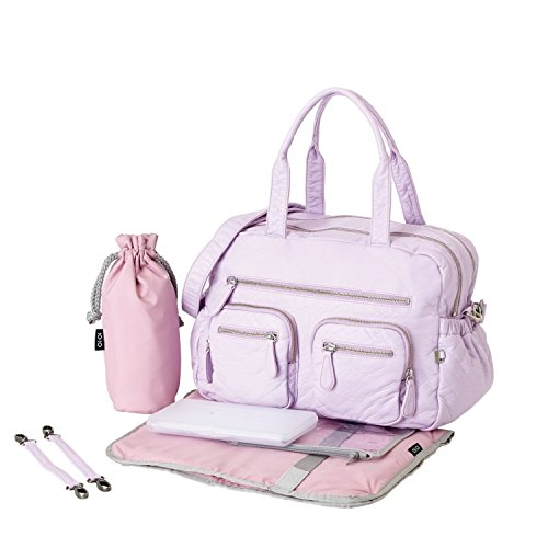 OiOi Carry All Diaper Bag - Lilac Orchid Lizard