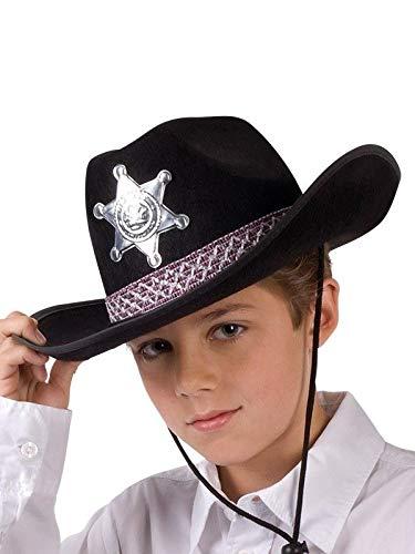 bd8c040b8b10d DISBACANAL Sombrero Sheriff para niño - Negro  Amazon.es  Juguetes y ...