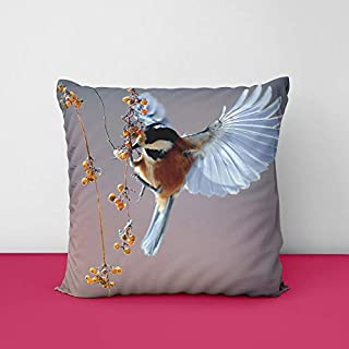 41r4BQ0p1JL. SS320 Birds Square Design Printed Cushion Cover
