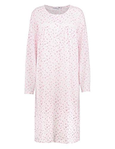 Slenderella ND7102 Women's Ditsy Pink Floral Night Gown Loungewear Nightdress