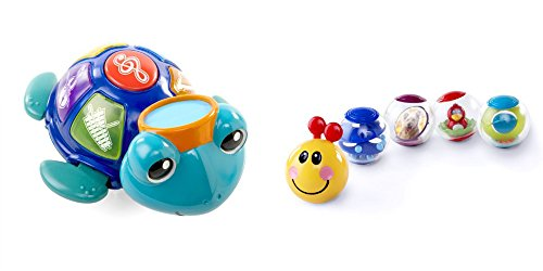 [Baby Einstein Baby Neptune Ocean Orchestra Musical Toy & Rollar Pillar Activity Balls for Kids, 2] (Baby Fish Costume Diy)