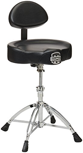 Spindle Back (MAPEX T775 Double Braced Throne with Height Adjustment and Back Rest, Saddle Seat)
