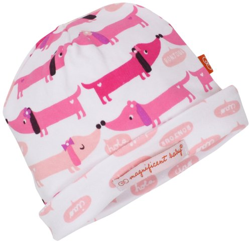 Magnificent Baby-Girls Newborn Reversible Cozy Cap, Hot Dogs, One Size