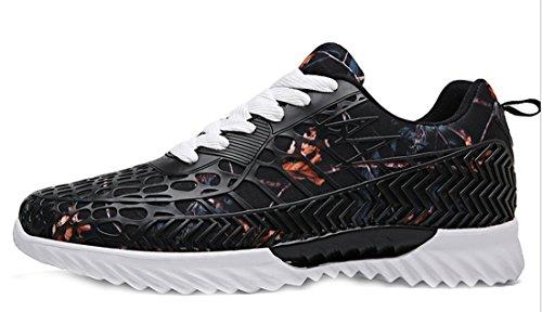 NEWZCERS Unisex Mode Paar Atmungsaktive Sport Sneakers Camouflage Mesh Freizeitschuhe Wanderschuhe Fitness Schuhe CrlH2u0m3