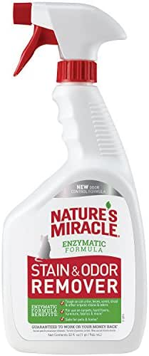 Nature's Miracle Cat Stain and Odor Remover With New Odor Control Formula 32 Ounce Spray