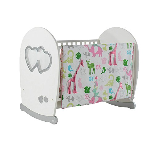 i-baby Baby Bedding - Getting Together in the Jungle, 3 Pcs Printed Crib Bedding for Girl from i-baby