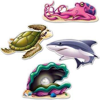 Under The Sea Creature Cutouts Case Pack 96 (Sea Creature Costumes)