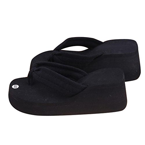 Dear Time Women Flip Flops Shoes Summer Sandals Casual Platform Slipper Black 4khbSUsuv