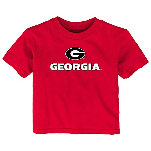 NCAA Georgia Bulldogs Infant Primary Logo Short Sleeve Tee, 12 Months, Red