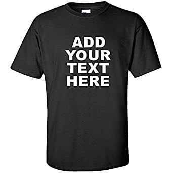 Add your own custom white text tee company for Amazon custom t shirts