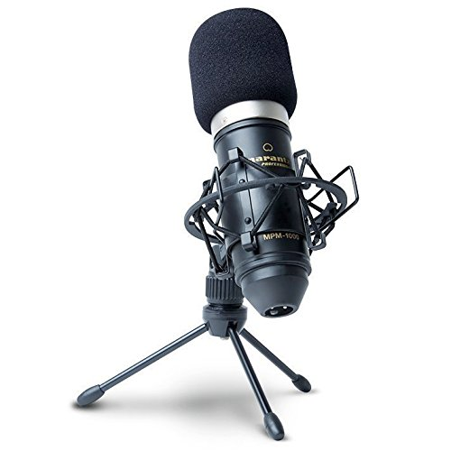 Marantz Professional MPM-1000 | Cardioid Condenser Microphone with Windscreen, Shock Mount & Tripod Stand (18mm / XLR Out) (Large Diaphragm Cardioid Condenser Microphone)