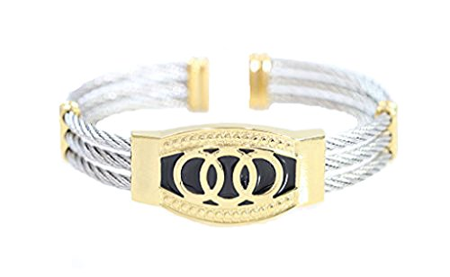 Jewelry Alpha (Alpha Jewelry Designer Luxury Cable wire bracelet for women men (Silver wire) Triple 3 Titanium Steel Cable Wire Cuff Twisted Bangle Bracelet)