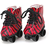 "Red Rockin' Roller Skates for 18"" Dolls"