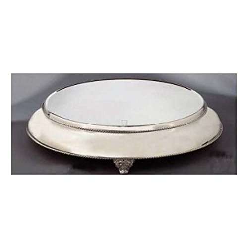 Elegance Silver 89892 Silver Plated Round Cake Stand with 22'' Base, 18'' by Elegance Silver