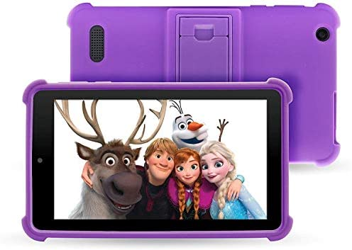 "Venturer Small Wonder 7"" Android Kids Tablet with Disney Books, Bumper Case & Google Play, 16GB Storage & 2GB RAM (Purple)"