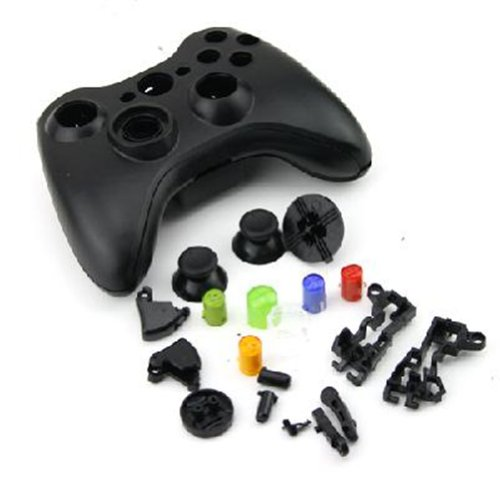 Xbox 360 controller parts amazon black replacement kit xbox 360 controller shell button parts ccuart Gallery