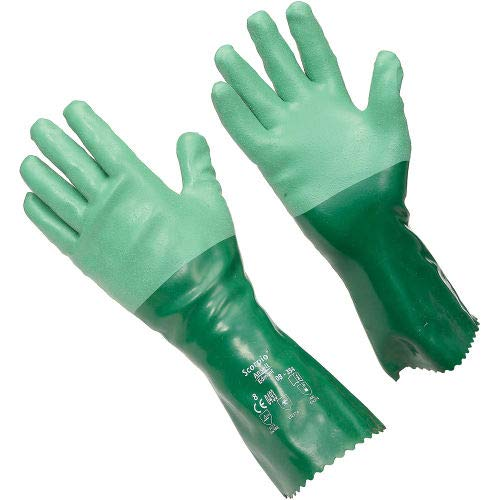 Scorpio Chemical Resistant Gloves, Ansell 08-354, Size 8, 1 Pair, (Pack of 5) (8-354-8)