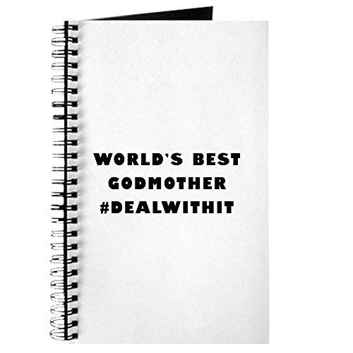 CafePress World's Best Godmother (Hashtag) Spiral Bound Journal Notebook, Personal Diary, Lined - Godmother Family Journal