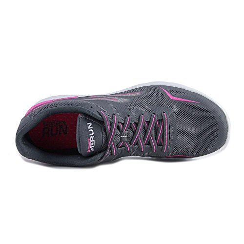 Skechers Performance Damen Go Run 400 Obstruct Holzkohle / Pink