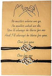 Friendship Bracelets for Women Girls Couples Matching Promise Bracelets for Boyfriend and Girlfriend Christmas