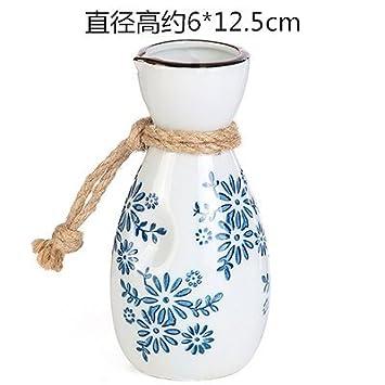 MMXXAIWWAA Chino retro jarra de vidrio de vino de cerámica conjunto creativo vino blanco sake bodega