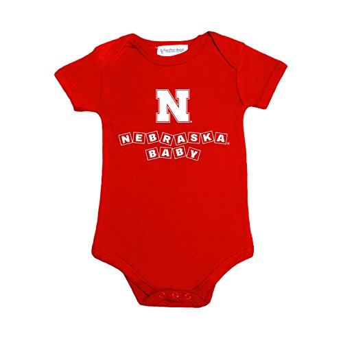Two Feet Ahead Nebraska Cornhuskers Blocks NCAA College Newborn Infant Baby Creeper (6 Months)