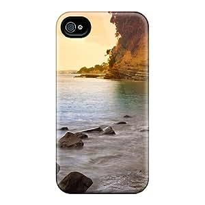 High Grade JoyRoom Flexible Tpu Case For Iphone 4/4s - Warm Beach